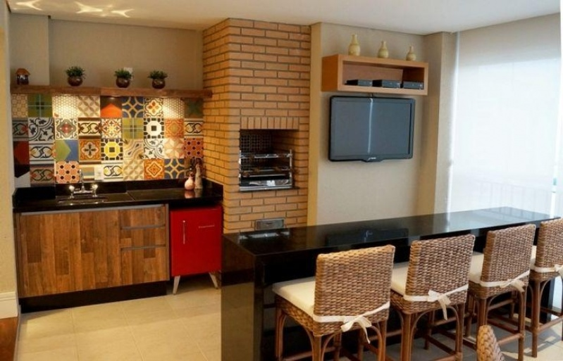 Móveis para área Gourmet de Apartamento no Ermelino Matarazzo - Móveis para Apartamento Pequeno