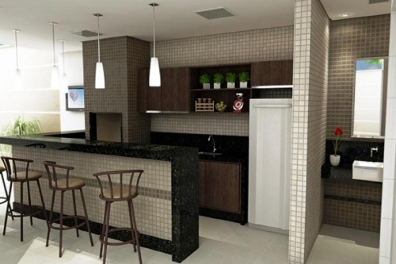 Móvel para área Gourmet de Apartamento no Alto da Lapa - Móveis para Apartamento de 50 M2