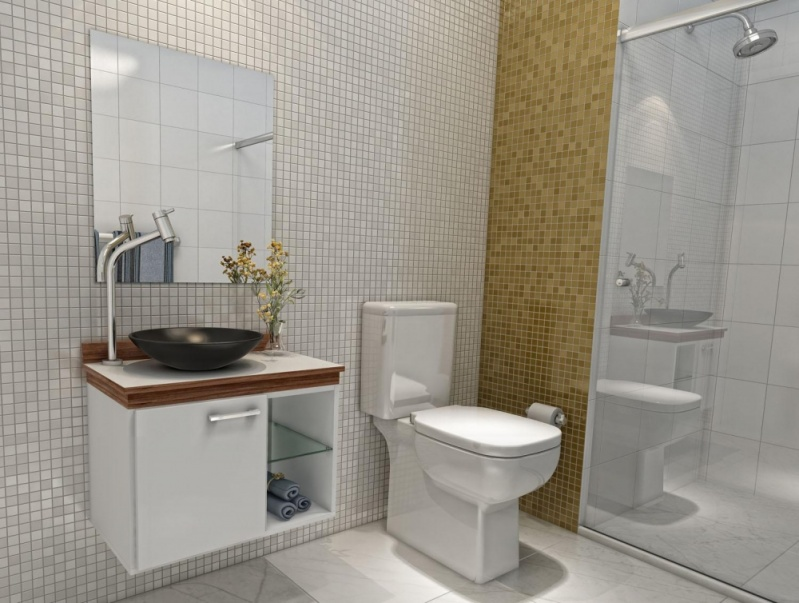 Orçamento de Móveis para Banheiro de Apartamento no Bananal - Móveis para Apartamento Pequeno